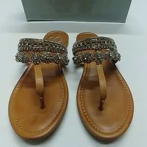 Jessica Simpson jeweled sandals